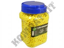 5000 x 6mm x 12g Yellow Polished Airsoft BB Gun Pellets in tub with handle